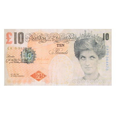 """Giclée after Banksy """"Di-Faced Tenner"""", 21st Century"""