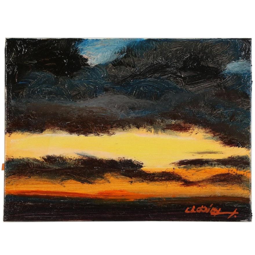 "Robert Lackney Abstract Acrylic Painting ""Tomorrow"""