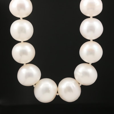 Pearl Graduated Necklace with 14K Clasp