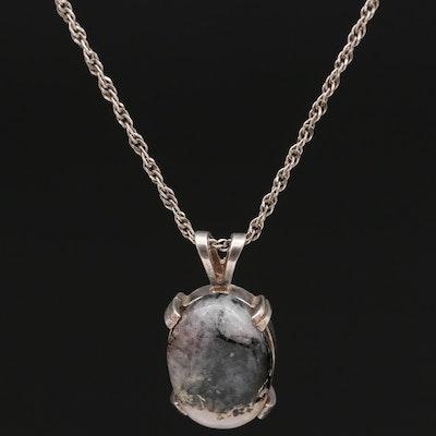 Sterling Silver Feldspar Necklace