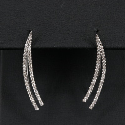 14K Diamond Minimalist Ear Climbers