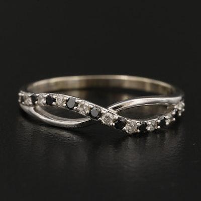 14K Diamond Infinity Ring