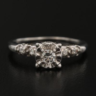 Vintage 14K Diamond Illusion Set Ring