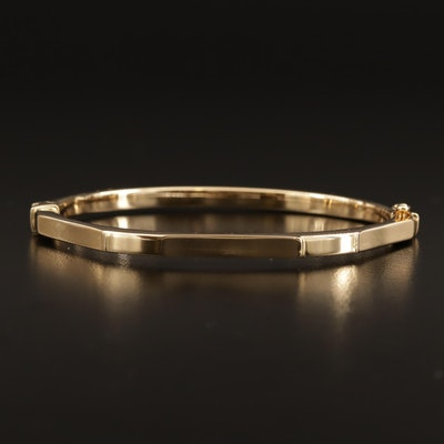 14K Oval Hinged Bangle