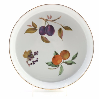 "Royal Worcester ""Evesham Gold"" Porcelain Flan Dish, Late 20th Century"
