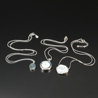 Sterling Necklaces Featuring Silpada and Luna Norte with Gemstones