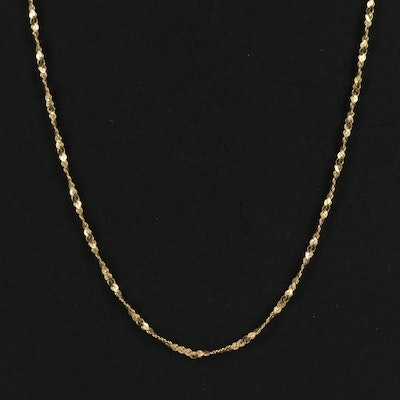 14K Twisted Serpentine Chain Necklace