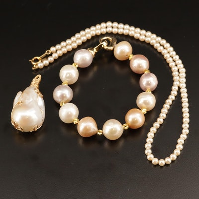 Pearl and Faux Pearl Jewelry