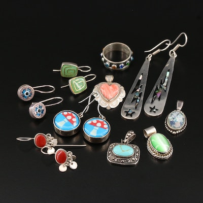 Sterling Jewelry Featuring Relios by Carolyn Pollack and Mexican Drop Earrings