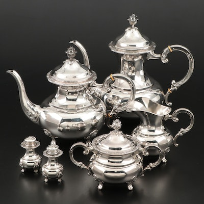 Eugen Ferner Sterling Silver Tea and Coffee Service, Mid-20th Century