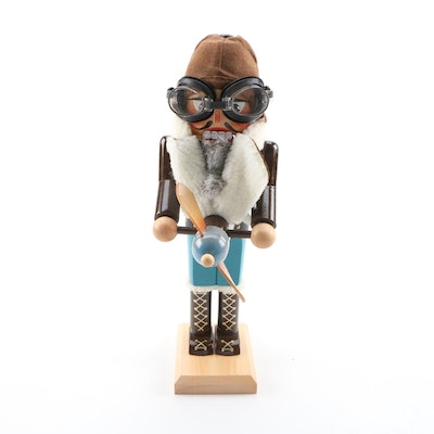 "Steinbach ""Aviator"" Wooden Nutcracker, Late 20th Century"