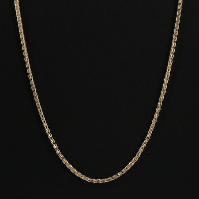 14K Gold Wheat Chain