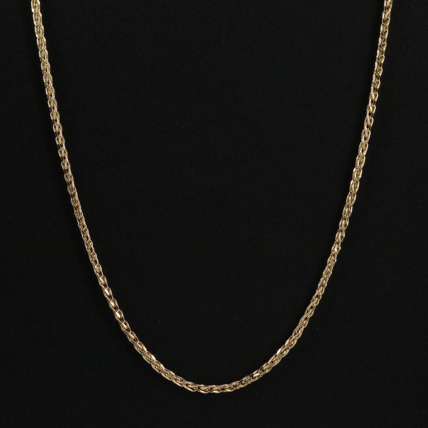 14K Gold Wheat Chain