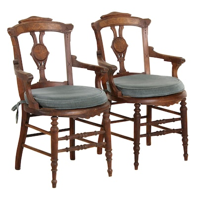 Renaissance Revival Parlour Chairs, Late 19th Century