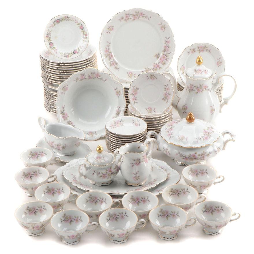"""Mitterteich Bavaria """"Springtime"""" Porcelain Dinnerware Service"""