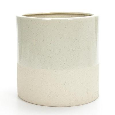 Outdoor Speckled Glaze Stoneware Planter, Contemporary