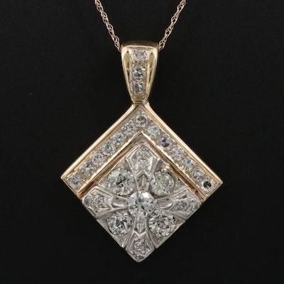 14K 1.83 CTW Diamond Necklace