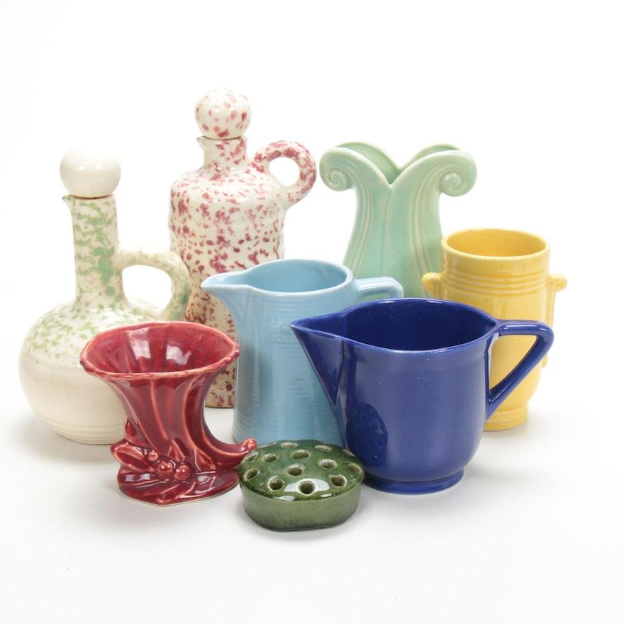 Mohawk Liquor Ceramic Decanters and Other Ceramic Vessels, Mid 20th Century