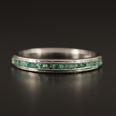 10K Channel Set Emerald Band