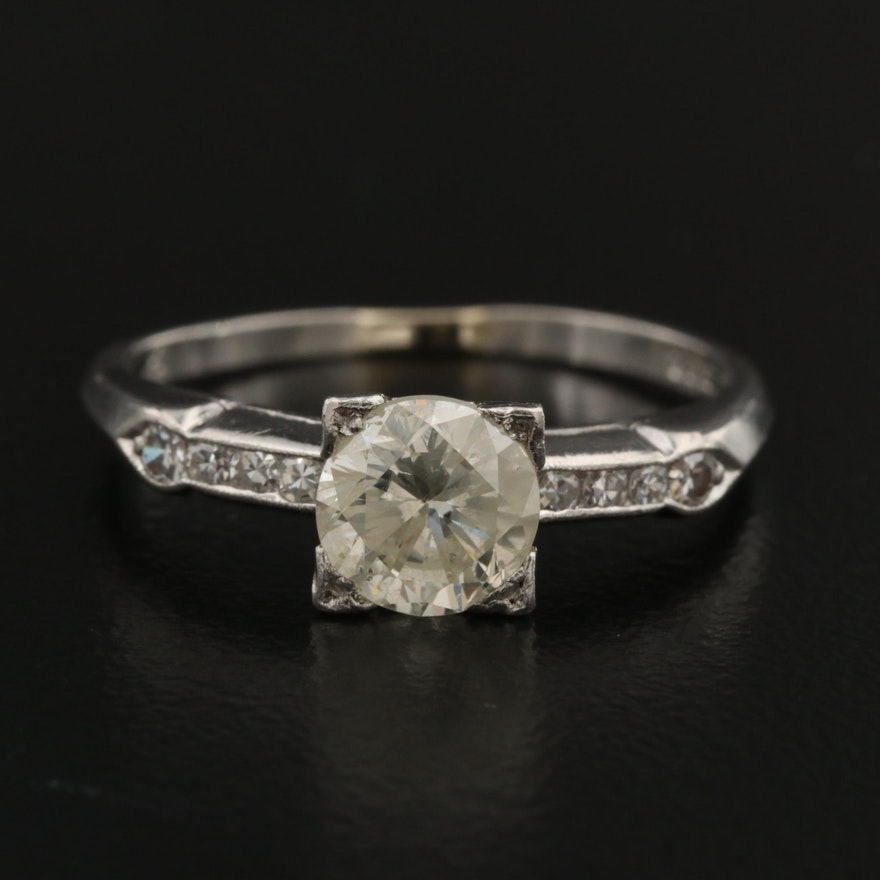 Vintage Platinum 1.00 CTW Diamond Ring