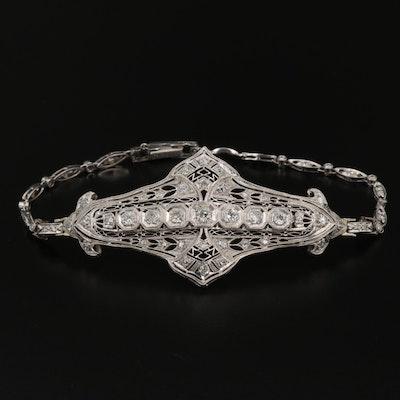 Platinum 1.85 CTW Diamond Bracelet
