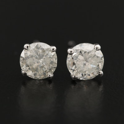 14K 1.27 CTW Diamond Stud Earrings