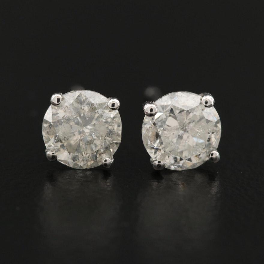 14K 1.27 CTW Diamond Stud Earrings