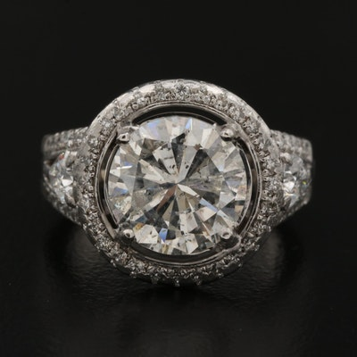 "Simon G. ""Passion"" 4.41 CTW Diamond Ring with Arthritic Shank and GIA Report"