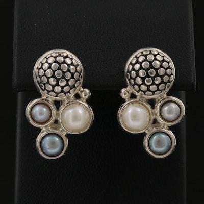 Michael Dawkins Sterling Silver Earrings with 14K Ear Posts