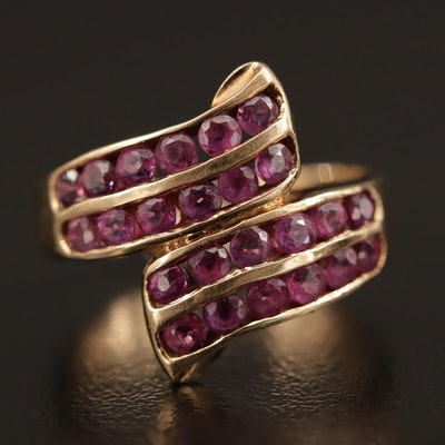 14K Ruby Bypass Ring