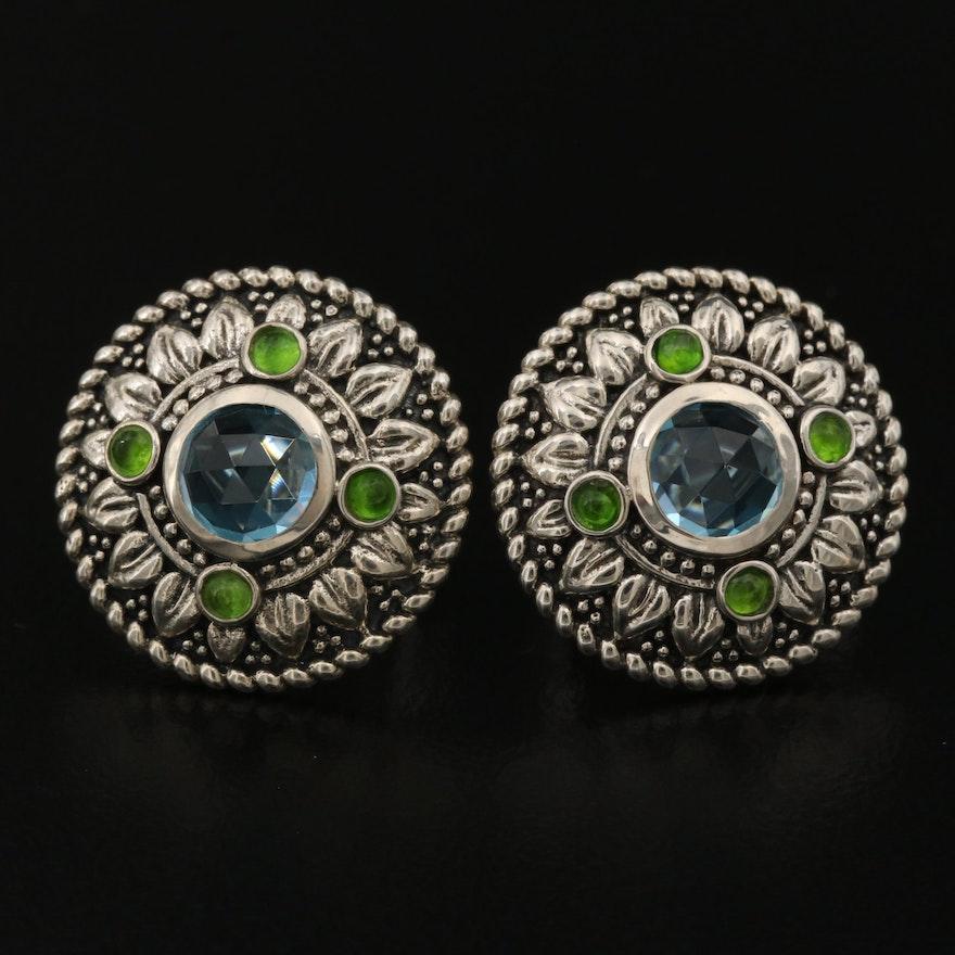 SeidenGang Sterling Silver Diopside Earrings