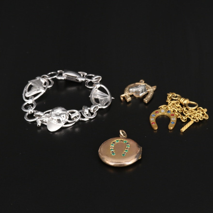 Antique and Vintage Equestrian Themed Jewelry Featuring Carl-Art and Sterling