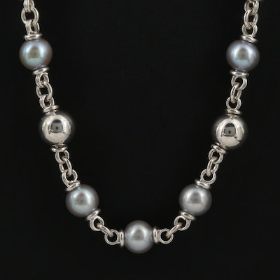 Michael Dawkins Sterling Pearl Necklace