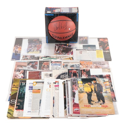 Autographed John Wooden JSA, Bill Walton and Other College Player Signed Items
