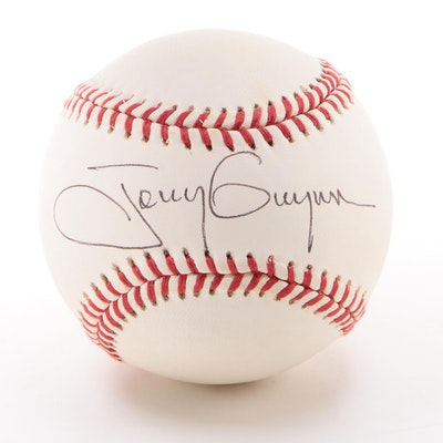 Tony Gwynn Signed Rawlings National League Baseball