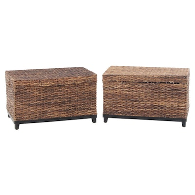 Pair of Target Seagrass Chests