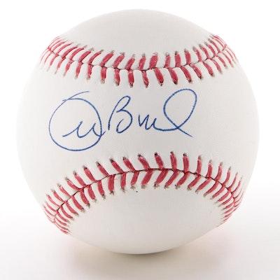 Radio/TV Announcer Joe Buck Signed Rawlings Major League Baseball