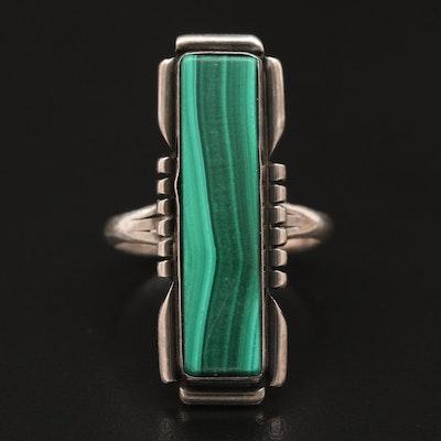 Anna Begay Navajo Diné Sterling Silver Malachite Ring
