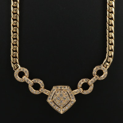 18K 2.91 CTW Diamond Link Necklace