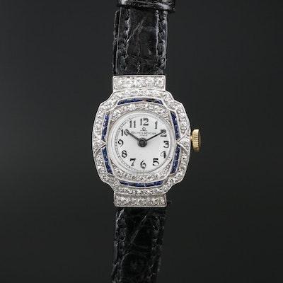Baume & Mercier Platinum 1.00 CTW Diamond and Sapphire Wristwatch