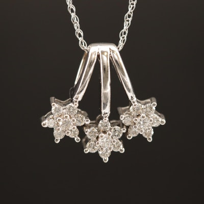 14K Diamond Pendant Necklace