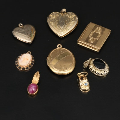 Collection of Pendants Featuring Faux Star Ruby, Alice Caviness and Van Dell