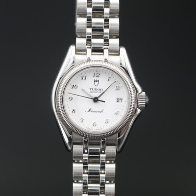 "Tudor ""Monarch"" Stainless Steel Quartz Wristwatch"