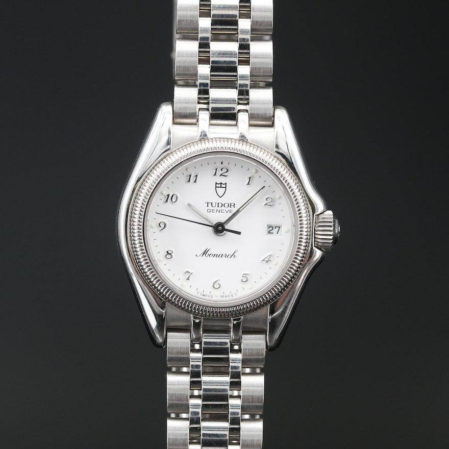 "Tudor ""Monarch"" Stainless Steel Quartz Wristwatch"
