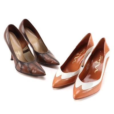 Nina and Jacqueline Pointed Toe and Oxford Style Pumps, Vintage