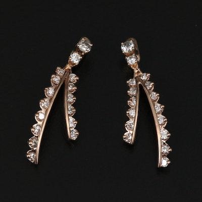 14K Diamond Earring Enhancers