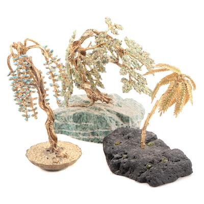 Stone Encrusted Bonsai Figurines
