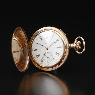 1901 Waltham Gold Filled Hunting Case Pocket Watch
