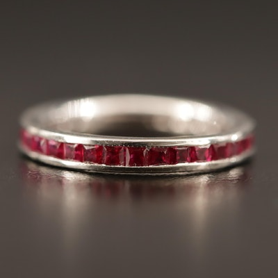 14K Channel Set Ruby Band