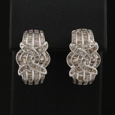 18K 1.50 CTW Diamond Earrings